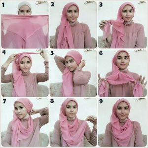 Inilah Tutorial Hijab Segi Empat Untuk Pipi Chubby Fashion Hijab